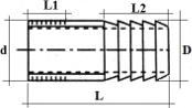 Штуцер под шланг НР Dn25 (33.7х33мм) BSP AISI304/1.4301