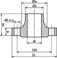 Фланец воротниковый Dn25/33,7мм DIN2633 AISI304L/1.4307
