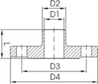 Фланец воротниковый Dn100 AISI304L/1.4307