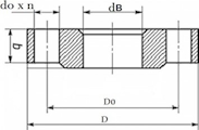 Фланец плоский 50-25-01-1-B-12х18н10т-IV ГОСТ 33259-2015
