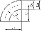 "Отвод 90"" Dn32 (42.4х3мм) ISO DIN 2605 AISI316L/1.4404"
