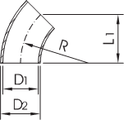 "Отвод 45"" Dn25 (29х1.5мм) DIN 11852 AISI316L/1.4404"