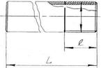 Ниппель приварной 1 (33.7мм) BSPT AISI304/1.4301