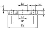 Фланец плоский Dn32/42,4мм DIN2576 AISI304L/1.4307
